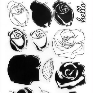 Altenew, Cartoon Rose stamp set, Australia