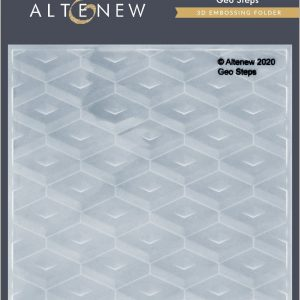 Altenew, Geo Steps 3d embossing folder, Australia 1