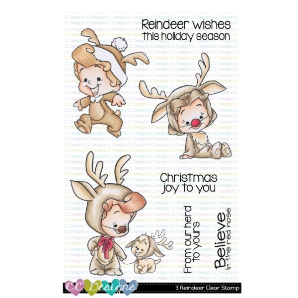 CC Designs, 3 Reindeer stamp set, Australia