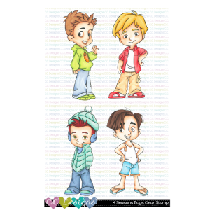 CC Designs, 4 Seasons Boys stamp set, Australia
