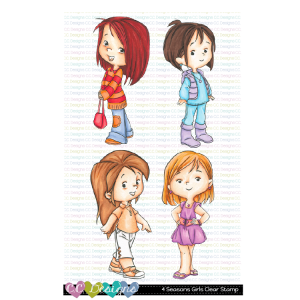 CC Designs, 4 Seasons Girls stamp set, Australia