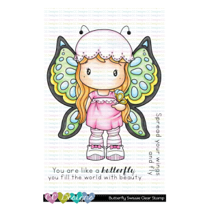 CC Designs, Butterfly Swissie stamp set, Australia
