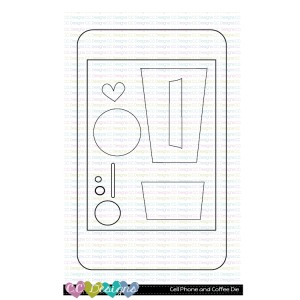 CC Designs, Cell Phone and Coffee die set, Australia