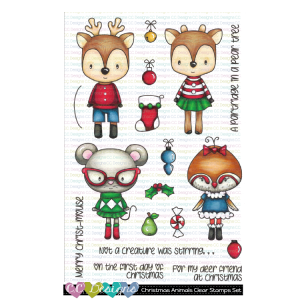 CC Designs, Christmas Animals stamp set, Australia
