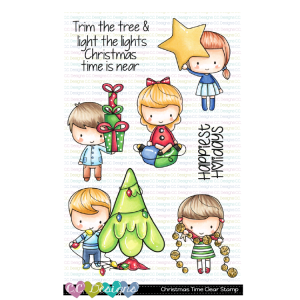 CC Designs, Christmas Time stamp set, Australia
