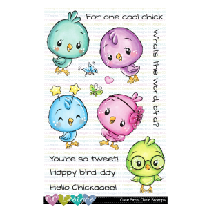 CC Designs, Cute Birds stamp set, Australia