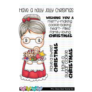 CC Designs, Mrs Claus stamp set, Australia