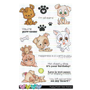 CC Designs, Puppy Power stamp set, Australia