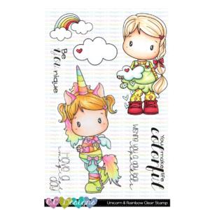 CC Designs, Unicorn & Rainbow stamp set, Australia