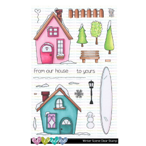 CC Designs, Winter Scene stamp set, Australia