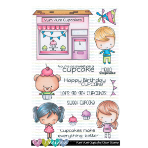 CC Designs, Yum Yum Cupcake stamp set, Australia