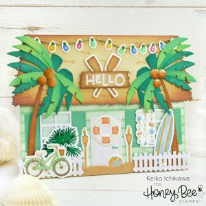 Honey Bee Stamps, Beach House Builder add-on stamp set, Australia 4