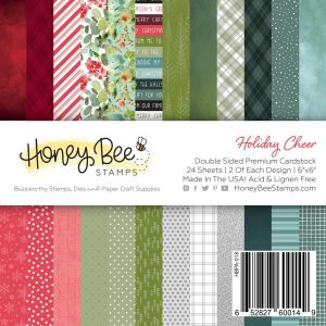 Honey Bee Stamps, Holiday Cheer 6x6 paper pad, Australia