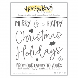 Honey Bee Stamps, Merry Christmas stamp set, Australia