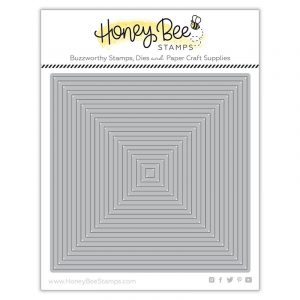 Honey Bee Stamps, Square Thin Frames die set, Australia