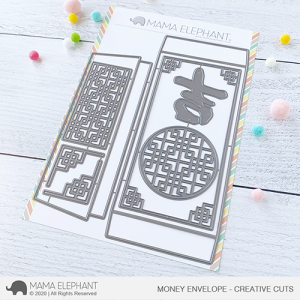 Mama Elephant, Money Envelope die set, Australia