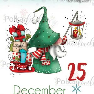 Polkadoodles, Gnome 25 December stamp set, Australia