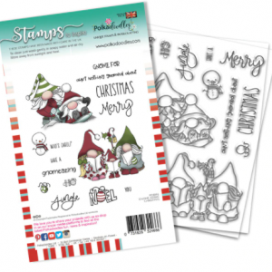 Polkadoodles, Gnomeazing Christmas stamp set, Australia