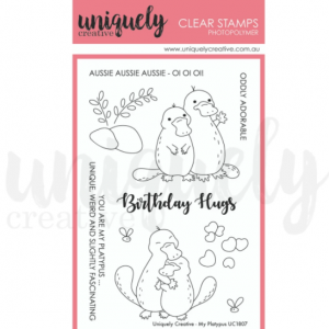 Uniquely Creative, My Platypus stamp set, Australia