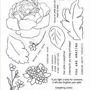 Altenew, Tranquilty Rose stamp set, Australia