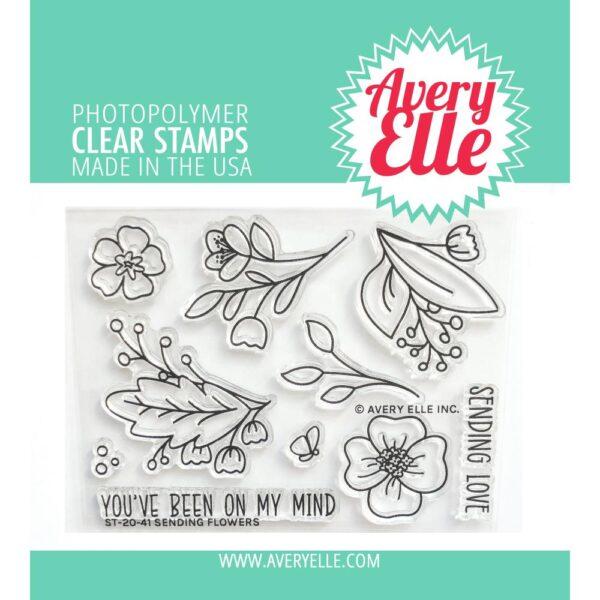 Avery Elle, Sending Flowers stamp set, Australia