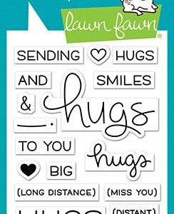Lawn Fawn, Long Distance Hugs stamp set, Australia