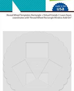 Lawn Fawn, Reveal Wheel Rectangle & Virtual Friends template set, Australia