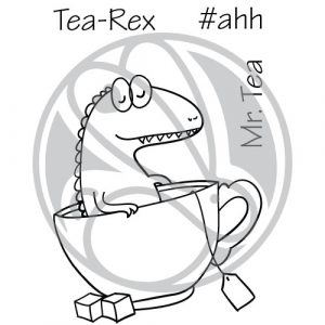 Rabbit Hole Designs, Tea Rex stamp set, Australia