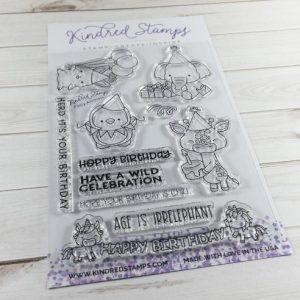 Kindred Stamps, Party Animals stamp set, Australia