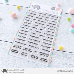 Mama Elephant, Comic Sayings stamp set, Australia