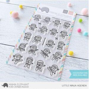 Mama Elephant, Little Ninja Agenda stamp set, Australia