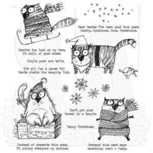 Tim Holtz, Snarky Cat Christmas stamp set, Australia