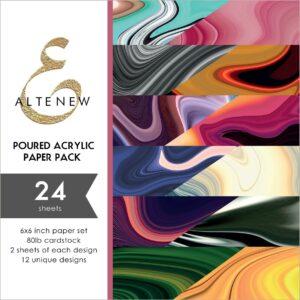 Altenew, Poured Acrylic 6x6 paper pack, Australia