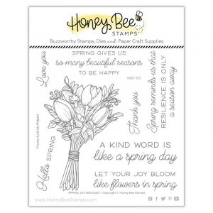 Honey Bee, Spring Joy Bouquet stamp set, Australia