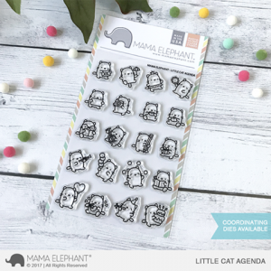 Mama Elephant, Little Cat Agenda stamp set, Australia