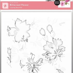 Altenew, Bitterroot Flower layering stencil set, Australia