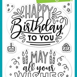 Lawn Fawn, Giant Birthday Messages stamp set, Australia
