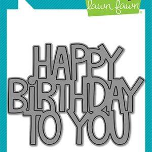 Lawn Fawn, Giant Happy Birthday To You die set, Australia