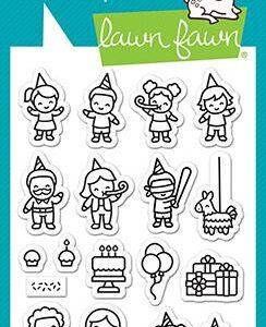 Lawn Fawn, Tiny Birthday Friends stamp set, Australia