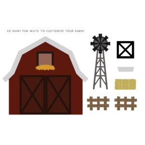 Honey Bee, Barn Scene Builder die set, Australia
