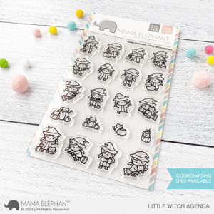 Mama Elephant, Little Witch Agenda stamp set, Australia
