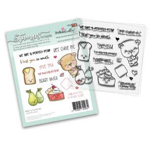 Polkadoodles, Cutie Pie stamp set, Australia