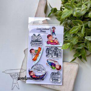 Sweet Sentiment, Happy Camper stamp set, Australia