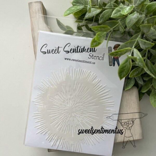 Sweet Sentiment, Urchin Mandala stencil, Australia