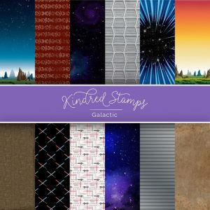Kindred Stamps, Galactic 6x6 paper pack, Australia